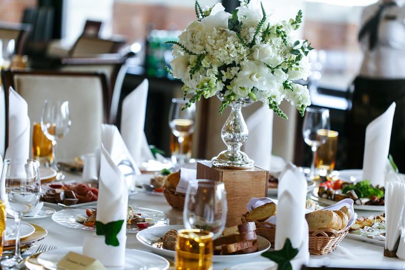 wedding table and food