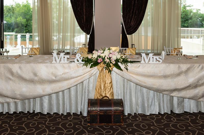 main table at wedding